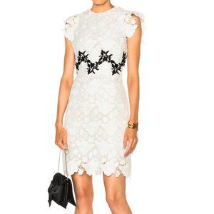 Giambattista Valli Couture Macramé Rose Mini Dress